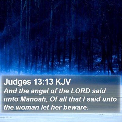 Judges 13:13 KJV Bible Verse Image