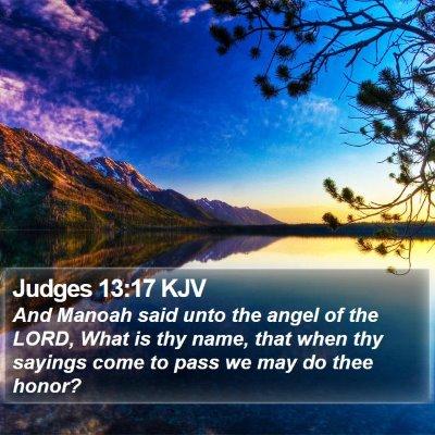 Judges 13:17 KJV Bible Verse Image