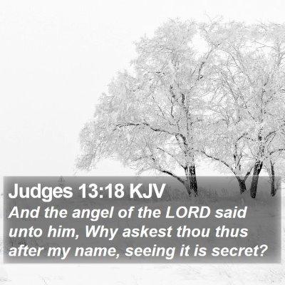 Judges 13:18 KJV Bible Verse Image