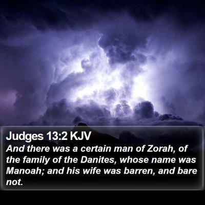 Judges 13:2 KJV Bible Verse Image