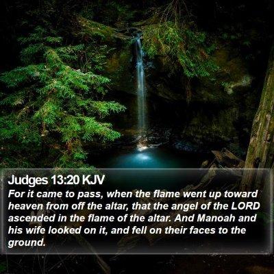 Judges 13:20 KJV Bible Verse Image