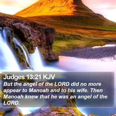 Judges 13:21 KJV Bible Verse Image