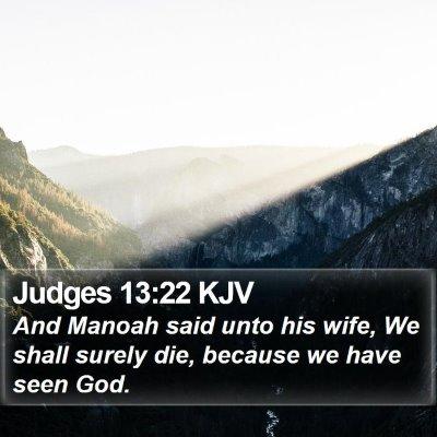 Judges 13:22 KJV Bible Verse Image