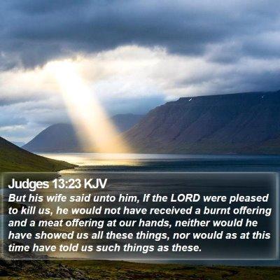 Judges 13:23 KJV Bible Verse Image