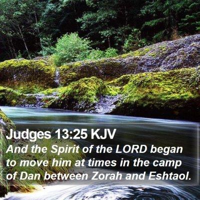Judges 13:25 KJV Bible Verse Image