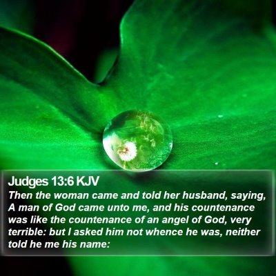 Judges 13:6 KJV Bible Verse Image