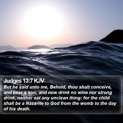 Judges 13:7 KJV Bible Verse Image