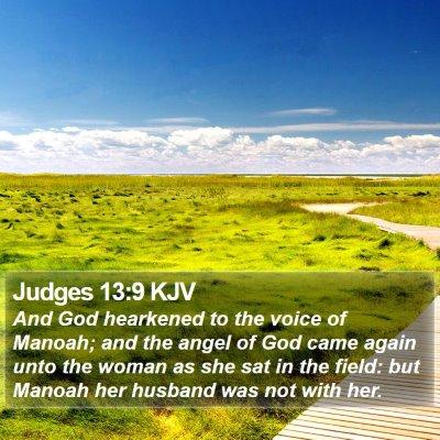 Judges 13:9 KJV Bible Verse Image