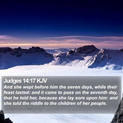 Judges 14:17 KJV Bible Verse Image