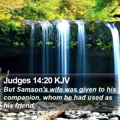 Judges 14:20 KJV Bible Verse Image