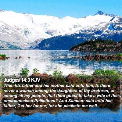 Judges 14:3 KJV Bible Verse Image