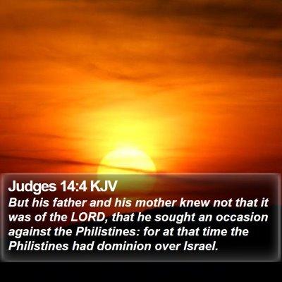 Judges 14:4 KJV Bible Verse Image