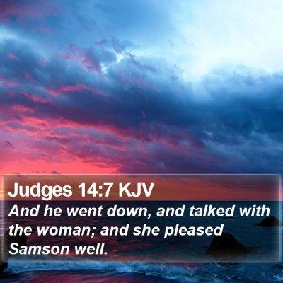 Judges 14:7 KJV Bible Verse Image