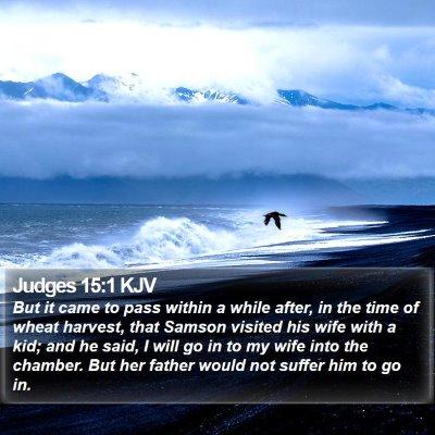 Judges 15:1 KJV Bible Verse Image