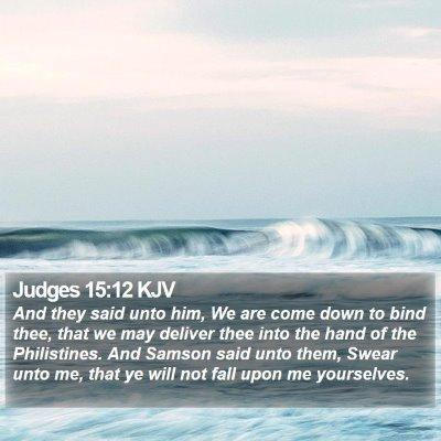 Judges 15:12 KJV Bible Verse Image