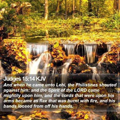 Judges 15:14 KJV Bible Verse Image