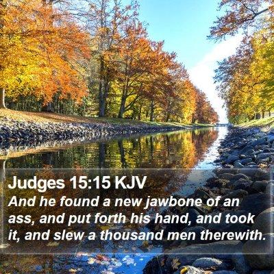 Judges 15:15 KJV Bible Verse Image