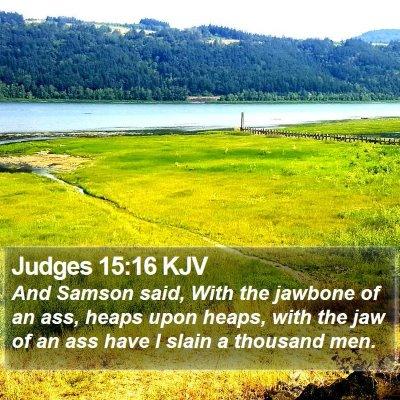 Judges 15:16 KJV Bible Verse Image