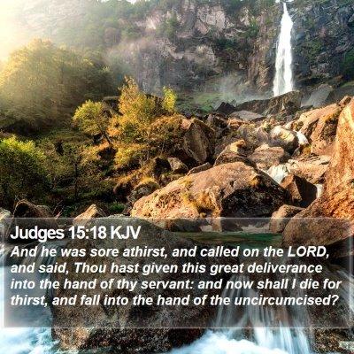 Judges 15:18 KJV Bible Verse Image