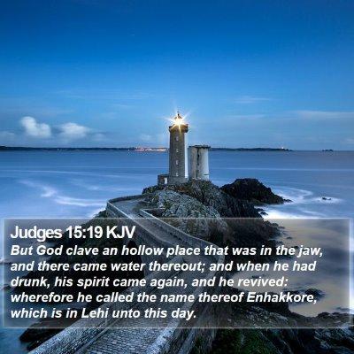 Judges 15:19 KJV Bible Verse Image