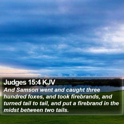 Judges 15:4 KJV Bible Verse Image