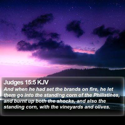 Judges 15:5 KJV Bible Verse Image