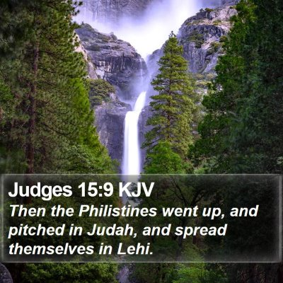 Judges 15:9 KJV Bible Verse Image