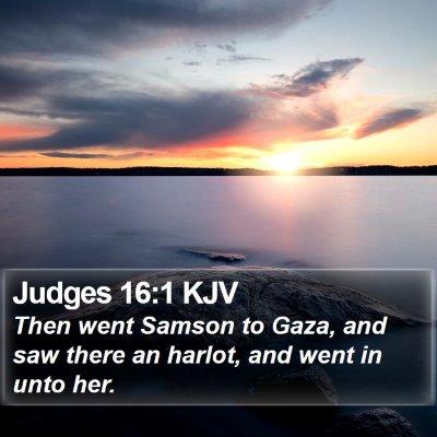 Judges 16:1 KJV Bible Verse Image
