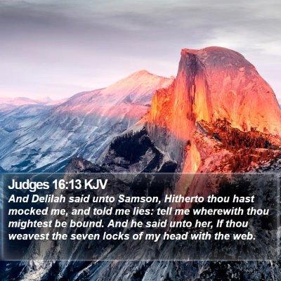 Judges 16:13 KJV Bible Verse Image