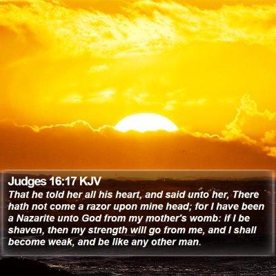 Judges 16:17 KJV Bible Verse Image