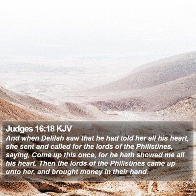 Judges 16:18 KJV Bible Verse Image