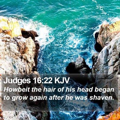 Judges 16:22 KJV Bible Verse Image