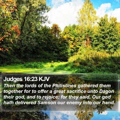 Judges 16:23 KJV Bible Verse Image
