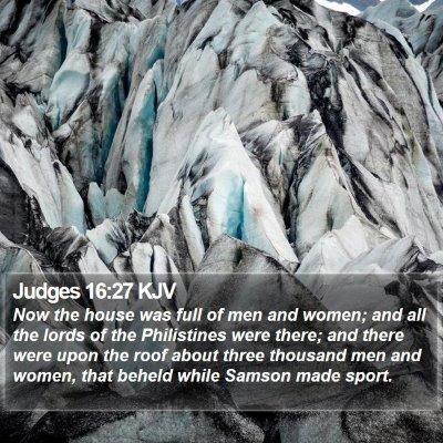Judges 16:27 KJV Bible Verse Image