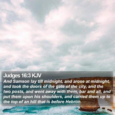 Judges 16:3 KJV Bible Verse Image