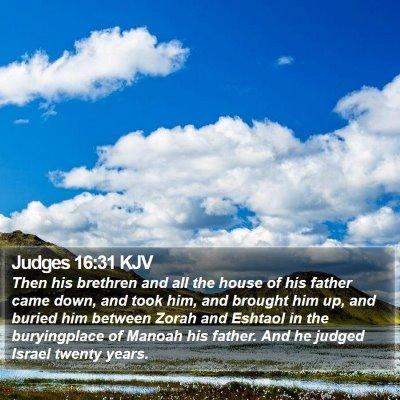 Judges 16:31 KJV Bible Verse Image
