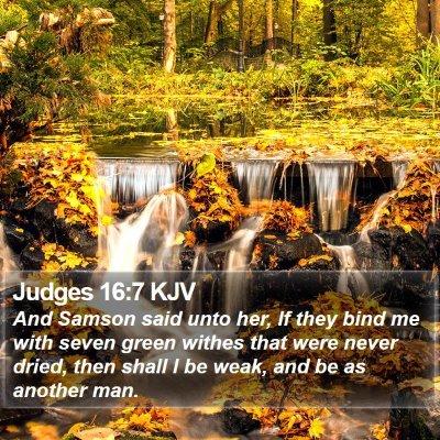 Judges 16:7 KJV Bible Verse Image