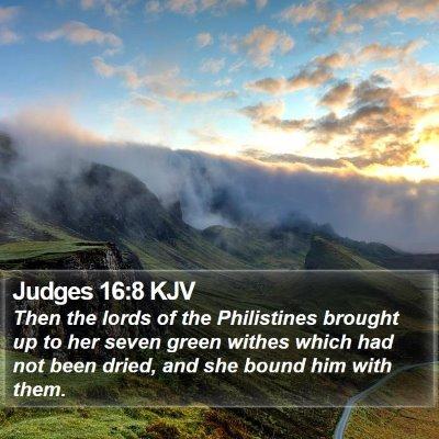Judges 16:8 KJV Bible Verse Image