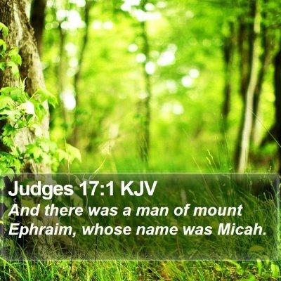 Judges 17:1 KJV Bible Verse Image