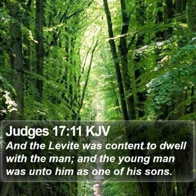Judges 17:11 KJV Bible Verse Image