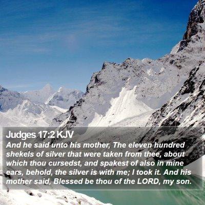 Judges 17:2 KJV Bible Verse Image