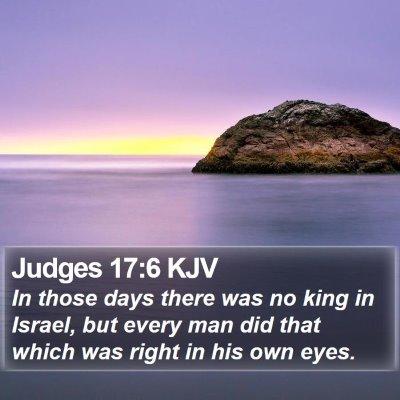 Judges 17:6 KJV Bible Verse Image