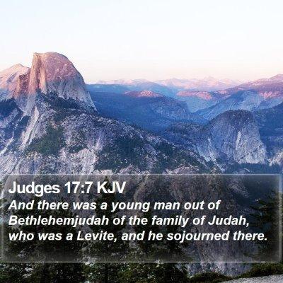 Judges 17:7 KJV Bible Verse Image