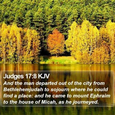 Judges 17:8 KJV Bible Verse Image
