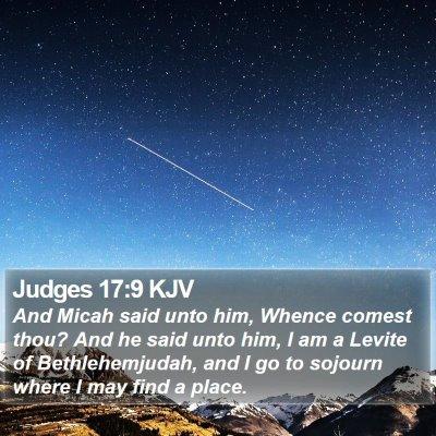 Judges 17:9 KJV Bible Verse Image
