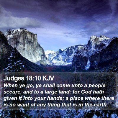 Judges 18:10 KJV Bible Verse Image