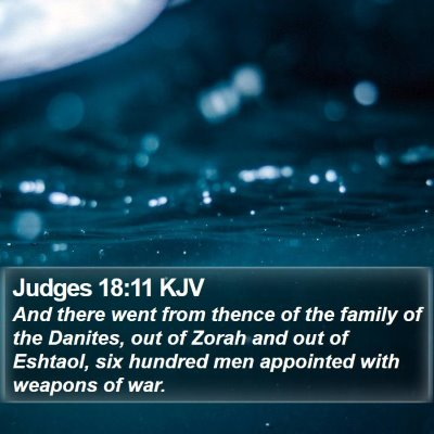 Judges 18:11 KJV Bible Verse Image