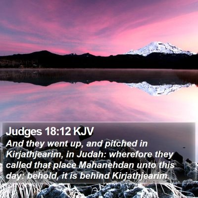Judges 18:12 KJV Bible Verse Image