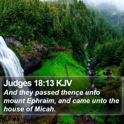 Judges 18:13 KJV Bible Verse Image