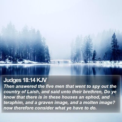 Judges 18:14 KJV Bible Verse Image